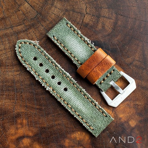 MILI Green Canvas Strap with Steel Buckle