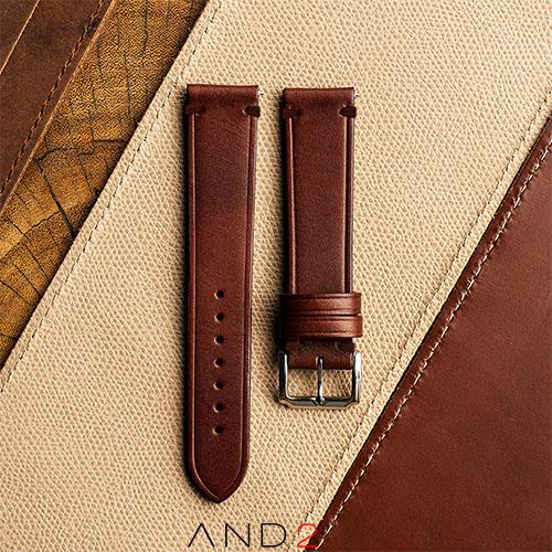 Speedy Chestnut Leather Strap Brown Stitching