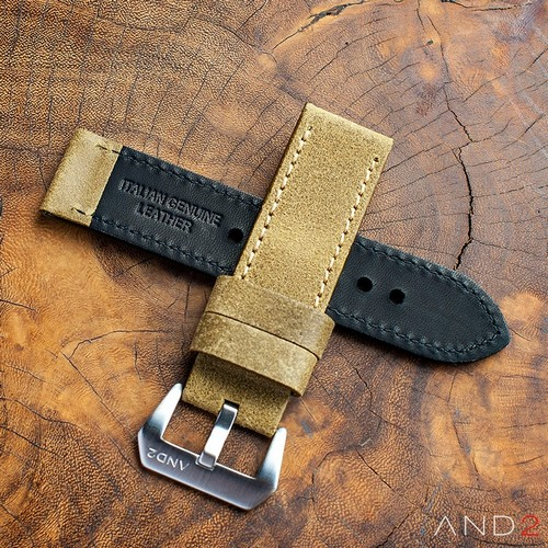 Chamonix Brass Leather strap 24mm