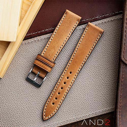 Kingsley Goldenrod Leather Strap 19mm