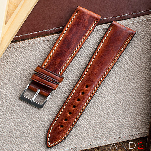 Kingsley Saddle Brown Leather Strap 22mm