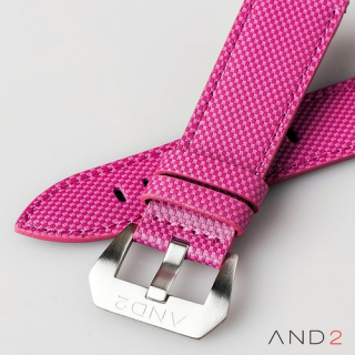 AND2 Pink Comex Leather Strap 24mm