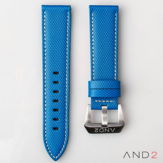 AND2 Blue Comex Leather Strap 22mm