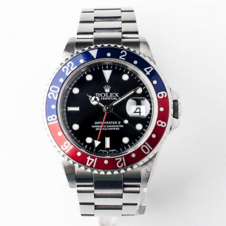 Rolex GMT Master II Ref 16710T F Serial no pin hole Circa 2003