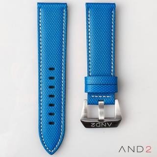 AND2 Blue Comex Leather Strap 24mm