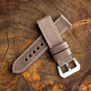 Chamonix Burly Wood Leather strap 24mm