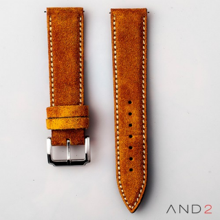 AND2 Kingsley Camel Suede Leather Strap (Beige Stitch)