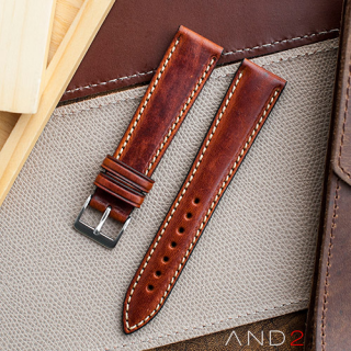 Kingsley Saddle Brown Leather Strap 20mm